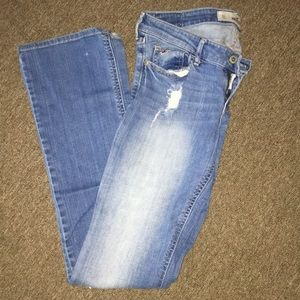 Hollister bootcut distressed jeans